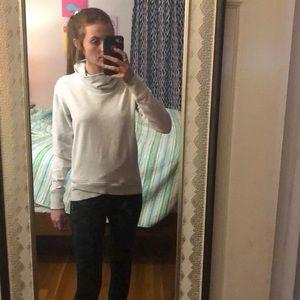 grey and white lulu lemon sweatshirt